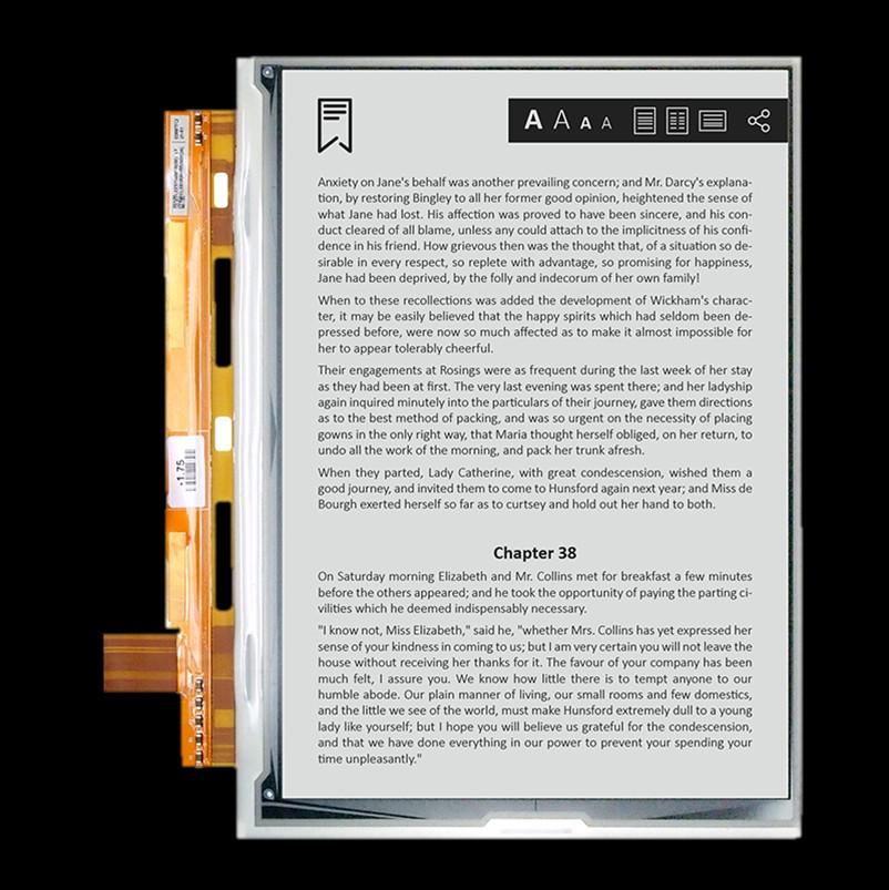 VB3300-JGA/ED097TC2-9.7寸-1200 x 825-150ppi-玻璃版墨水屏规格