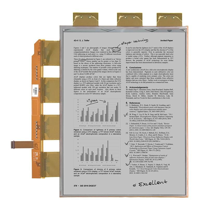 VB3300-NCD/ES133TT3-13.3寸-2200 x 1650-206ppi-柔性屏墨水屏规格