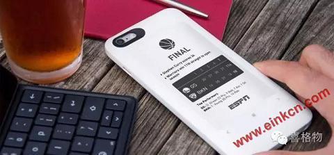 iPhone智能保护壳自带墨水屏移动电源