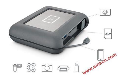 LaCie DJI Copilot移动硬盘 使用E Ink电子墨水屏幕 墨水屏其他产品 第11张