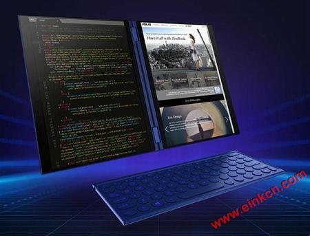 COMPUTEX2018|墨水屏与LCD成功合体 英特尔真的开始推双屏笔记本了 电子笔记 第1张