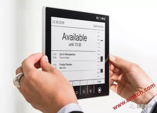大连佳显8寸电子纸屏幕案例--ROOMZ显示器,优化您的会议室 墨水屏无纸办公 第4张