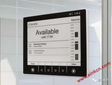 大连佳显8寸电子纸屏幕案例--ROOMZ显示器,优化您的会议室 墨水屏无纸办公 第3张