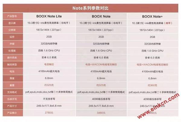 文石ONYX新品BOOX Note+与Note Lite配置参数对比差异 电子墨水笔记本 第22张