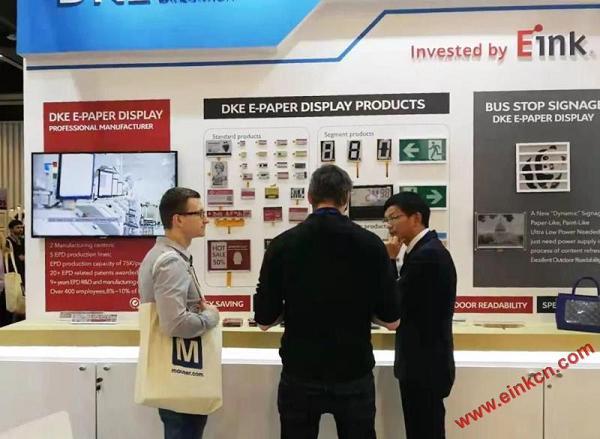 E Ink合作伙伴DKE东方科脉在德国Embedded world 2019 展出柔性基板电子纸产品 电子墨水屏新闻 第10张