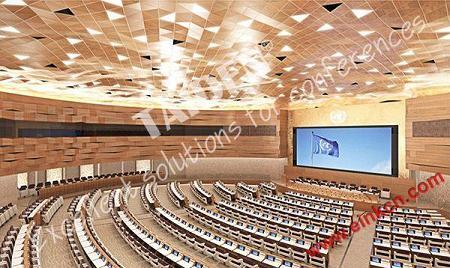 联合国日内瓦办事处第19会议室使用E Ink电子墨水会议牌 智能标签 第1张