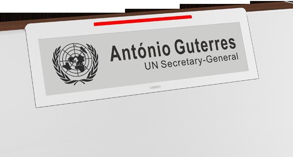 联合国日内瓦办事处第19会议室使用E Ink电子墨水会议牌 智能标签 第6张