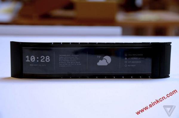 Wove 的智能手表 - 第一款真正的柔性屏幕消费产品诞生了 墨水屏手表手环 第4张