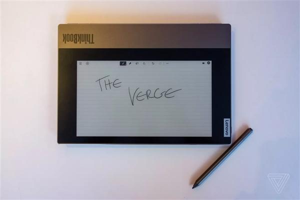 联想ThinkBook Plus亮相:配10.8寸电子墨水屏 8400元 联想Lenovo ThinkBook Plus 给笔记本加个墨水屏 售价1199USD-CES2020 其他产品 第3张