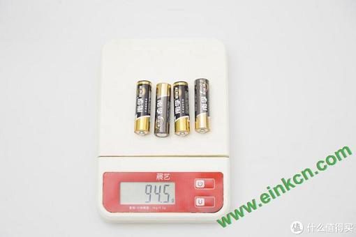 4节南孚五号电池的重量