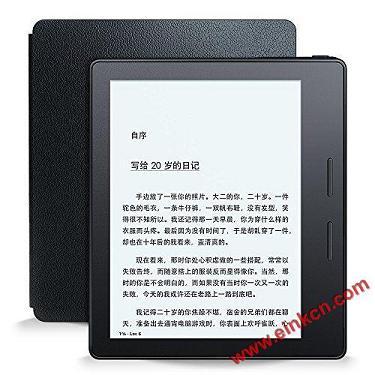 全新Kindle Oasis电子书阅读器:轻薄机身,配合皮质充电保护套可续航长达数月,300ppi超清电子墨水屏