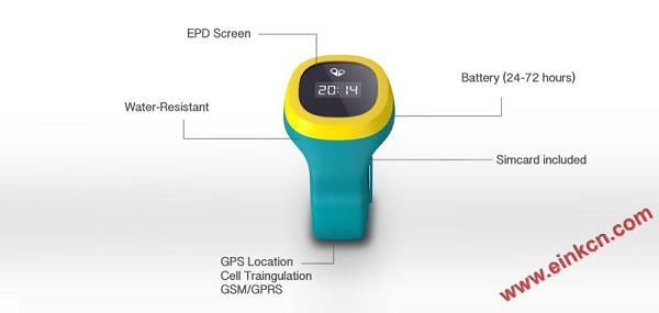 hereO: The first GPS watch designed for young kids 墨水屏手表手环 第18张