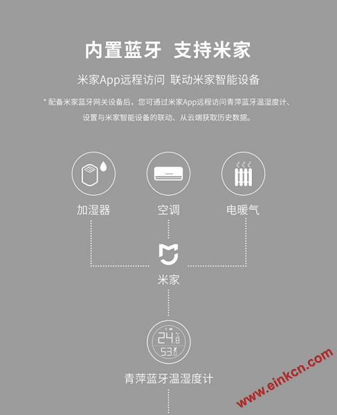 青萍蓝牙温湿度计 M 版 采用E Ink电子墨水显示屏 其他产品 第9张