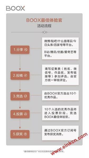 寻找文石BOOX最佳体验官 电子纸产品评测征稿活动 电子墨水笔记本 第4张