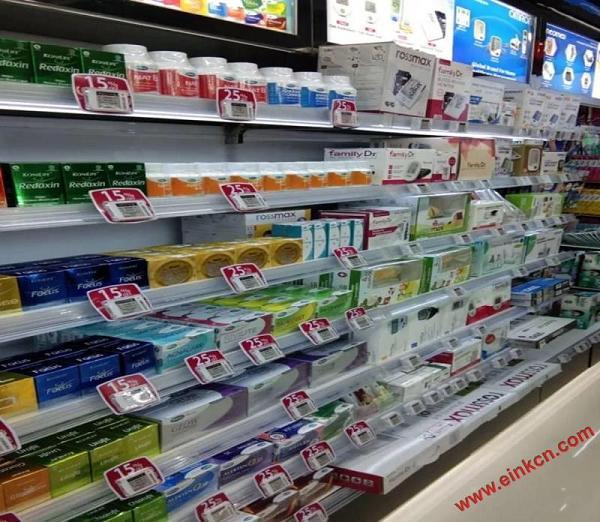 印尼街道Kimia Farma门店中使用国内汉朔的电子纸智能货架标签 智能标签 第1张