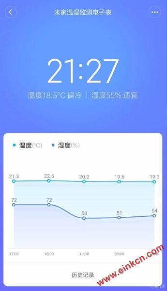 测评分享 || 知冷暖,懂干湿的米家温湿监测电子表-墨水屏产品 其他产品 第7张