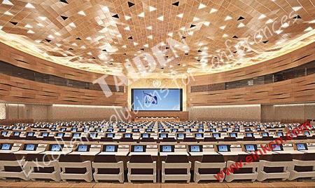 电子标签:联合国日内瓦办事处第19会议室使用E Ink电子墨水会议牌 墨水屏无纸办公 第2张