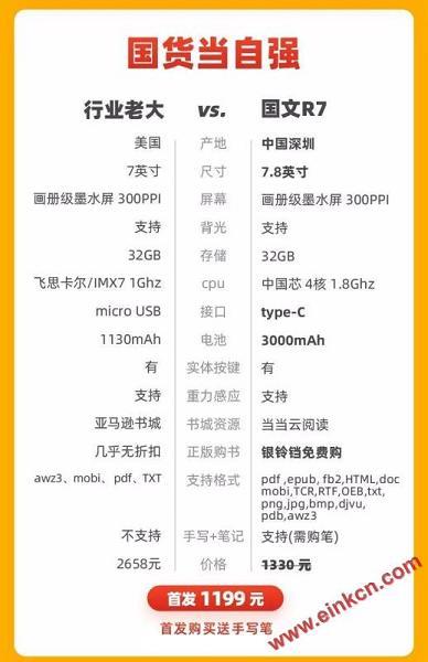 新品限量发售 | 国文R7:更大屏幕、一半价格 电子笔记 第5张