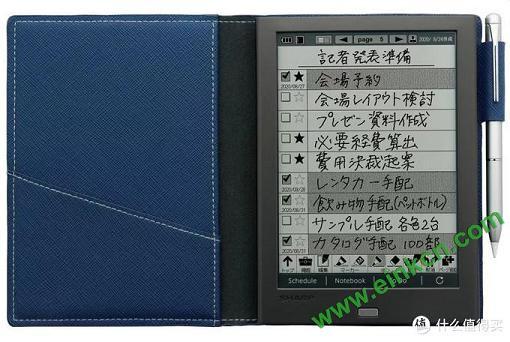 """夏普Sharp WG-PN1的电子墨水屏""""手账本"""":能写不能读,却比Kindle还贵 电子墨水笔记本 第1张"""