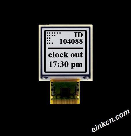 ET013TT1-1.3寸-256 x 256-黑白-SPI-柔性-电子墨水屏