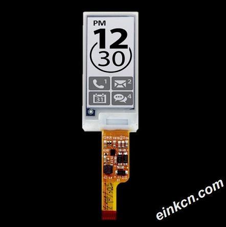 ED013TC1-1.27寸-256 x 128-黑白-SPI-玻璃-电子墨水屏