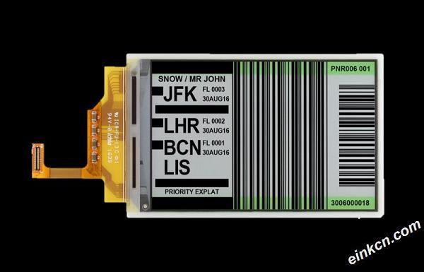ET040TC3-4.05寸-720x480-黑白-并口-柔性-电子墨水屏