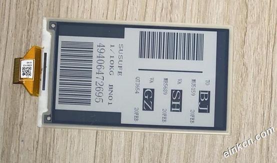 ED037TC2-3.7寸-480x280-黑白-SPI-玻璃-电子墨水屏