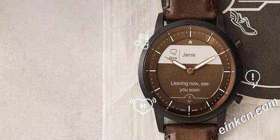 Eink墨水屏+物理指针!Fossil 这次把智能手表和石英表完美融合在一起了