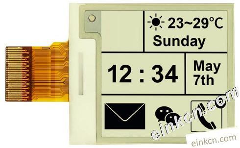 E0154A45-1.54寸-200 x 200-黑白-SPI-玻璃-电子墨水屏