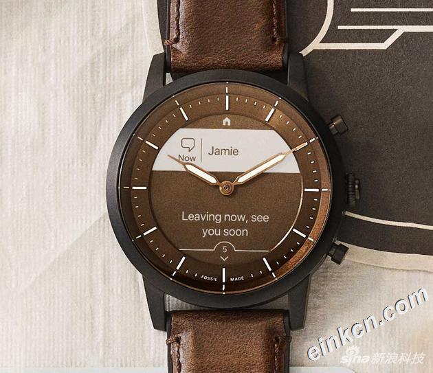 Fossil HYBRID HR智能复合腕表:节能显示屏幕+机械指针 京东购买