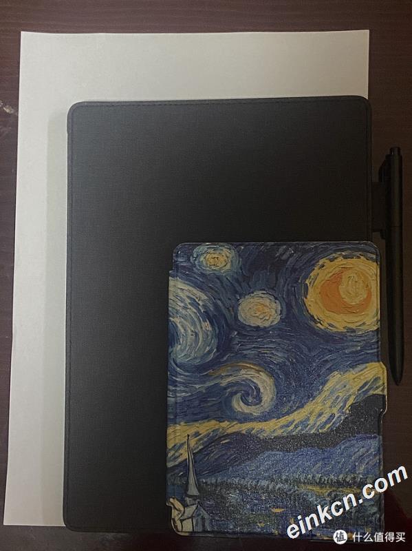 图1 文石Note2 与A4纸 Kindle尺寸对比