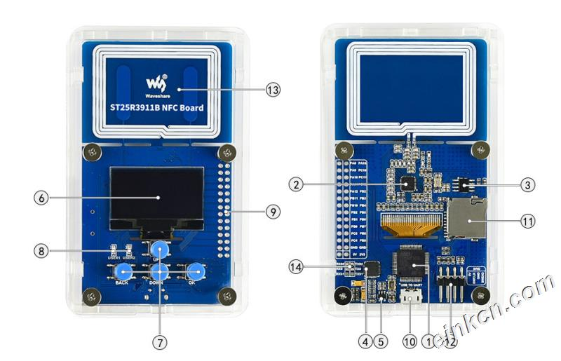 ST25R3911B NFC Board Interface