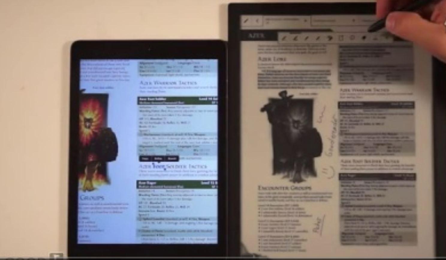 索尼Sony DPT-S1 13寸 e-ink 电子书 对比 iPad Air