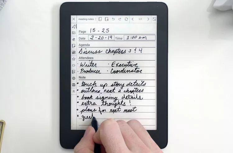 MobiScribe电子墨水笔记本 高清图 简单介绍 参数 手写效果