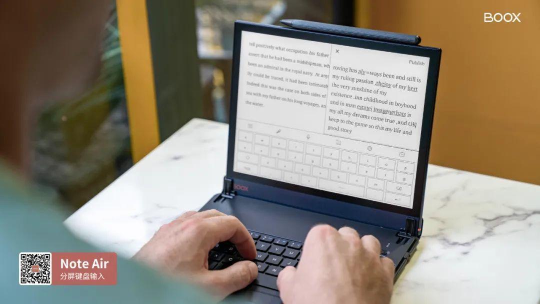 【视频演示】文石BOOX Note Air搭配蓝牙键盘打字有多爽?看完不心动算我输!
